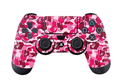 DOTBUY PS4 Design Schutzfolie Skin Sticker Aufkleber Set styling für Sony Playstation 4 Controller X 1 (Graffiti Pink)