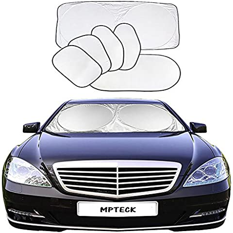 MPTECK @ Parabrisas del coche Parasol Bloqueador de rayos solares 6PCs Plegable Resistencia a los rayos UV y la Reflexión de Luz de Sol para para las mayoría de coches Sedan, Ford, Chevrolet, Buick, Audi, BMW, Honda, Mazda, Nissan y otros
