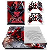 #7: Hytech Plus Deadpool Special Comic Edition Theme Sticker for Xbox One S Console & 2 Controllers