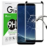 Galaxy S8 Screen Protector, Rusee Galaxy S8 Tempered Glass Screen Protector Film, Case Friendly, Ultra HD Clear, Anti-Scratch, 9H Hardness, Bubble Free, Curved Guard Cover for Samsung Galaxy S8