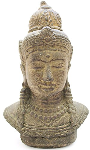 Thai Buddha Budda Tempelwächter Kopf 35 cm Figur aus Steinguss Feng Shui Stein Garten