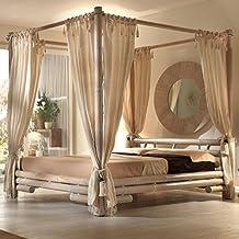 Schon Himmelbett Tabanan 180 X 200 Weiß | Bett Mit Himmel Bambus