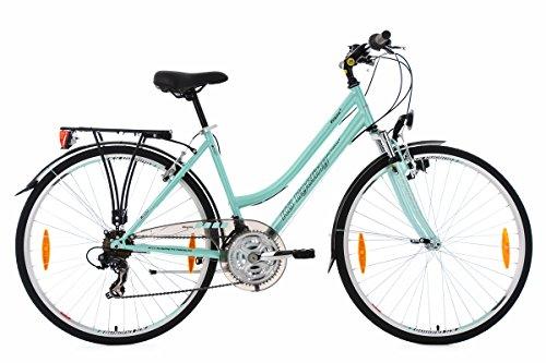 KS Cycling Damen Trekkingrad Vegas RH 48 cm Flachlenker Fahrrad, Mint, 28