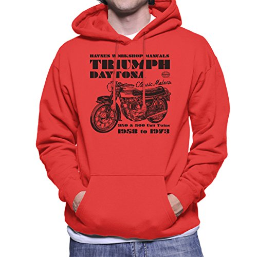 Haynes Owners Workshop Manual Triumph Daytona 350 500 Men's Hooded Sweatshirt - Daytona Spiel 500