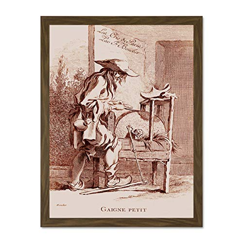 Doppelganger33 LTD Painting Engraving Boucher Ravenet Small Gain Large Framed Art Print Poster Wall Decor 18x24 inch Supplied Ready to Hang Gain Frame