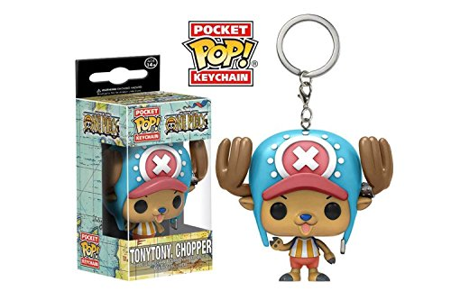 Funko 13924-PDQ POP Schlüsselanhänger Figur: One Piece Tony Chopper, unisex-child