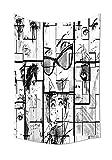 Tammy Chappell Fashion House Decor Gobelin Frauen Gesichter mit verschiedenen Eye Make-up Bild Paris Eiffelturm Romance Wanddekoration für Schlafzimmer Wohnzimmer Wohnheim schwarz weiß, Textil, 51.1W By 59L Inch