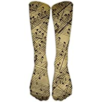 Music Notes Pattern Unisex 3D Printed Long Length Socks 50CM preisvergleich bei billige-tabletten.eu