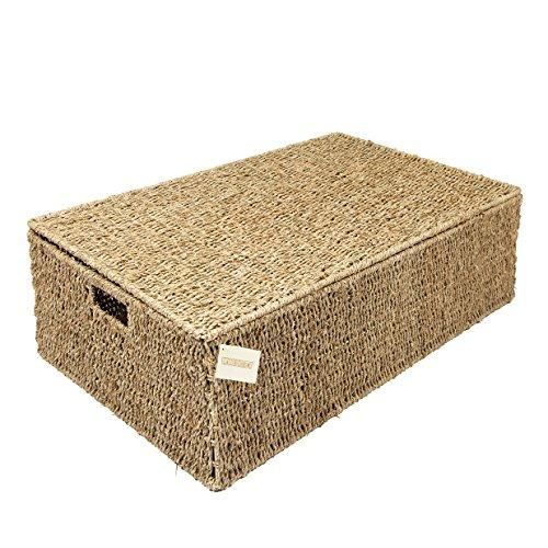 Woodluv Seagrass Under Bed Storage Box Chest Basket - Large  sc 1 st  Amazon UK & Under Bed Storage Boxes: Amazon.co.uk Aboutintivar.Com