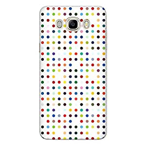 CrazyInk Premium 3D Back Cover for Samsung J5 2016 - Colorful Dots