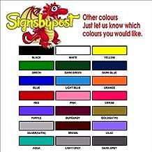 "Perros Running Loose Sign 9019–aluminio, Premium PVC o vinilo adhesivo Vinilo autoadhesivo 20cm x 30cm approx 8"" x 12"" Self Adhesive vinyl Other Colours"