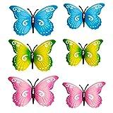 3er Set Schmetterlinge aus Metall Wanddeko Wandschmuck Haus und Gartendeko in 3 tollen Farben (3 x 30 cm)