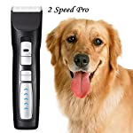 Rision 2 Spped Low Noise Professional Cordless Rechargeable Pet Clippers Pet Grooming Clippers for Cats/Dogs/Rabbits/Horses (Black) Rision 2 Spped Low Noise Professional Cordless Rechargeable Pet Clippers Pet Grooming Clippers for Cats/Dogs/Rabbits/Horses (Black) 51R1UoVd4DL