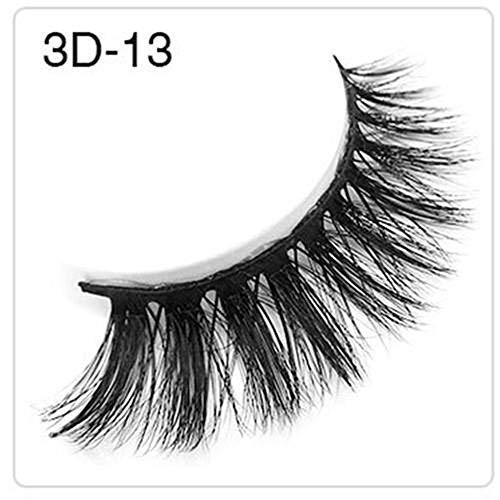 YHONG-Eyelashes Naturels 3D Faux Cils Faux Cils à la Main Cils Légers à la Recherche Naturelle Pleine Couverture Pas de Colle Mode Main Fait Extension Outil de Maquillage Croix Cils Vison