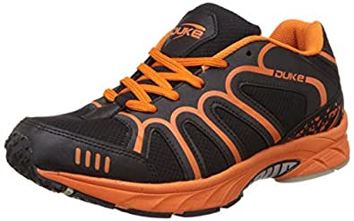 Duke Men's Black and Orange Running Shoes -6 UK/India (40 EU)(7 US)