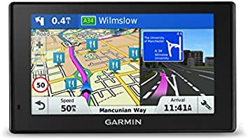 Garmin DriveSmart 50LM 5 inch Satellite Navigation with Lifetime Map Updates for UK, Ireland and Western Europe, Bluetooth