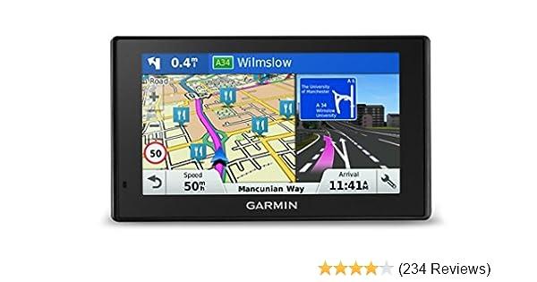 Garmin DriveSmart 50LM 5 inch Sat-Nav for Cars Satellite Navigation System  with Full Europe (including UK) Lifetime Map Updates and Smartphone Link