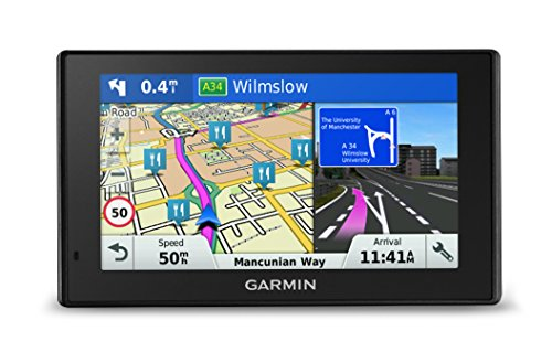 Garmin DriveSmart 50LM 5 inch Sat-Nav for Cars Satellite Navigation System with Full Europe (including UK) Lifetime Map Updates and Smartphone Link Traffic