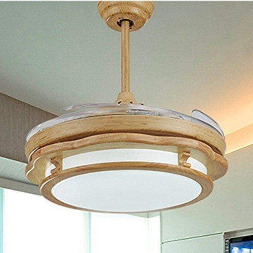 Antik Weiß Deckenventilator (MOMO Personifizierte dekorative Beleuchtung europäische antike Deckenventilator-Lichter, Restaurant-Blatt-Ventilator-Lichter, einfacher Wohnzimmer-Schlafzimmer-Leuchter mit einem Deckenventilator,G)