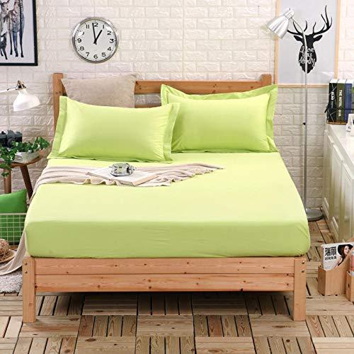 BBQBQ Matratzenbezug für Allergiker, Milbenbezug - Matratzenschutz, atmungsaktiv,Einteiliger Einband - obstgrün 120x190cm
