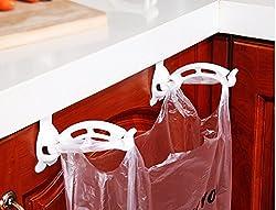 Okayji Hanging Trash Bag Holder Kitchen Cabinet Plastic Bags Door Garbage Bag Holder