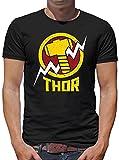 TLM Avengers Thor T-Shirt Uomo L Nero