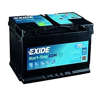 Exide 096 AGM Autobatterie, 70 Ah, AGM700 EK700