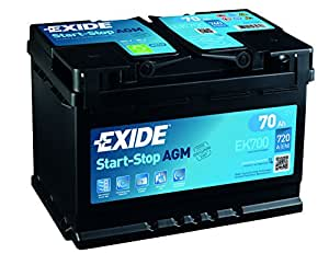 exide 096 agm autobatterie 70 ah agm700 ek700. Black Bedroom Furniture Sets. Home Design Ideas
