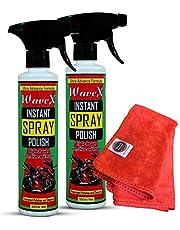 Wavex Instant Spray Polish (2Pcs,350ML Each) with Microfiber Towel 350gsm
