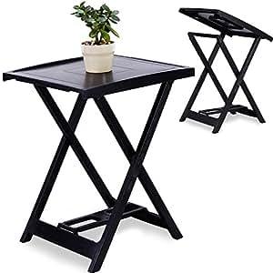 beistelltisch klapptisch balkontisch garten terrassen campingtisch kunststoff. Black Bedroom Furniture Sets. Home Design Ideas
