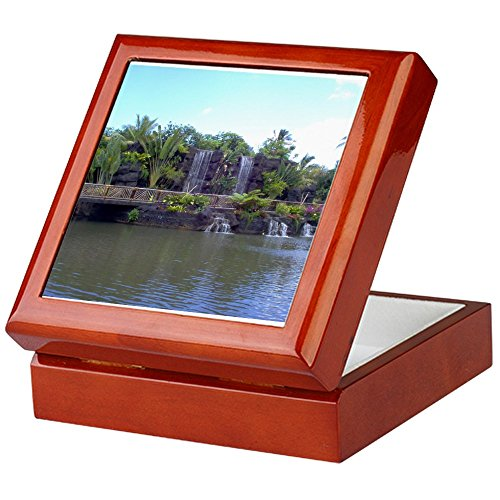 CafePress-Hawaii Andenken Box by mAMP Creations-Keepsake Box, fertig Hartholz Jewelry Box, Samt Gefüttert Memento Box, mahagoni, Standard (Maus-pad-hawaiian)