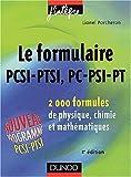 Le formulaire PCSI-PTSI, PC-PSI-PT
