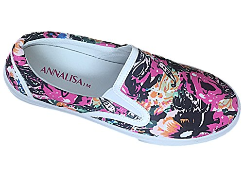 Foster Footwear , Damen Sneaker SO Black (Floral)