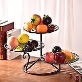 WANG-shunlida Zimmer drei Layer Disc einfach Modern Creative Haushalt getrocknet Obstkorb, Monolayer bronze Farbe
