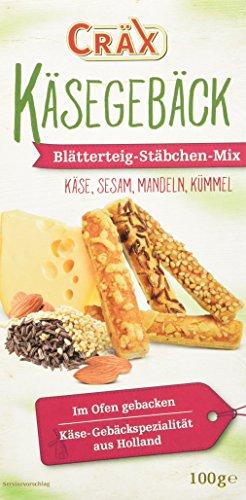 Cräx Käse-Blätterteig Stäbchen Mix, 100 g