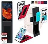 Meizu Pro 6S Hülle Cover Case in Rot - innovative 4 in 1
