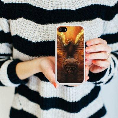 Apple iPhone 4 Housse Étui Silicone Coque Protection Aigle Aigle Phénix Housse en silicone blanc