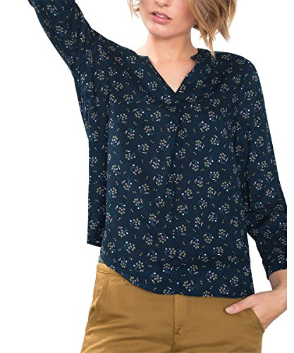 edc by ESPRIT 086CC1F007, Camicia Donna, Blu (NAVY), 38 (Taglia Produttore: Medium)