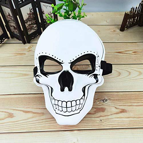 LINYANMY Halloween Maske des Horrorfestivals Maske Ghost Head Maske des Horrors Smiley Cold Sticker Maske