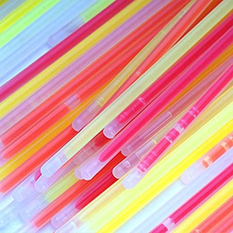 CDELEC 100 PCS Party Decoration Waterproof Safe Glow Stick Mixed Color Glow Sticks Connected become Bracelet Colorful