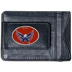 NHL Washington Capitals Genuine Leather Cash and Cardholder