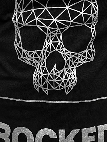 OZONEE Herren T-Shirt mit Motiv Kurzarm Rundhals Figurbetont J.STYLE SS009 Schwarz_J.STYLE-SS091