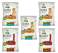 NutraHi Gluten Free Spaghetti Combo - 3 x Quinoa and 2 x Beetroot - 84gm Each
