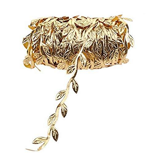 Xiton 10m Tuch Blätter Rattan Hochzeit Kranz Zubehör Goldene Blätter Seil für Hauptdekoration Goldenen Blättern
