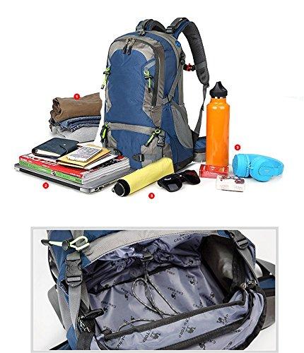 Borsa da viaggio all'aperto uomini e donne borsa a tracolla impermeabile resistente all'usura viaggio zaino da viaggio (40L), verde (50L) Black (50L)