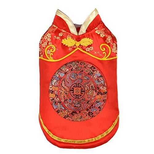 Person Kostüm Multi - Feidaeu Haustier-Kleidung Edles herrliches und Elegantes chinesisches Cheongsam Art-Hunde-Mantel-Jacken-Kostüm