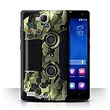 Stuff4 Hülle / Case für Huawei Honor 3C / Grün Tarnung Muster / Playstation PS4 Kollektion