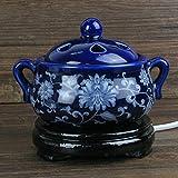 Clock Thermostat elektronische Sandelholz Ofen Keramik Duft-Öl-Brenner Chen Ofen Plug-in Pulver-Duftlampe ätherisches Öl Weihrauch-A