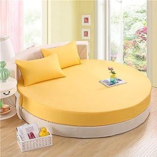 FHFGHYURBNYFGHFBY Komplettes Baumwoll-Round-Bett/Einzel-tagesdecke/Round Bed Protection Cover/vergrößern Baumwoll-Seite matratze schutzhülle/Round Sheets-K Durchmesser220cm(87inch)