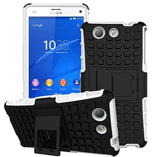 Stoßfest Hard Silikon Kunststoff Kick Stand Case für Sony Xperia Z4Compact -
